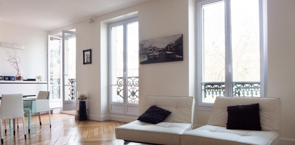 Appartement white s jour salon et salle manger sof for Sejour salon salle a manger