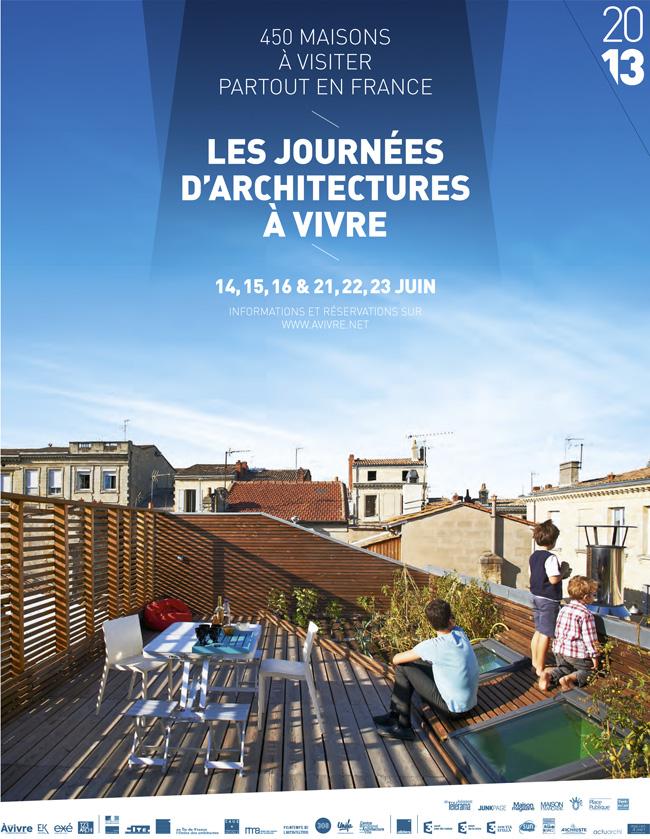 SOF architectes présente 2 chantiers de maisons aux journées Architecture à vivre