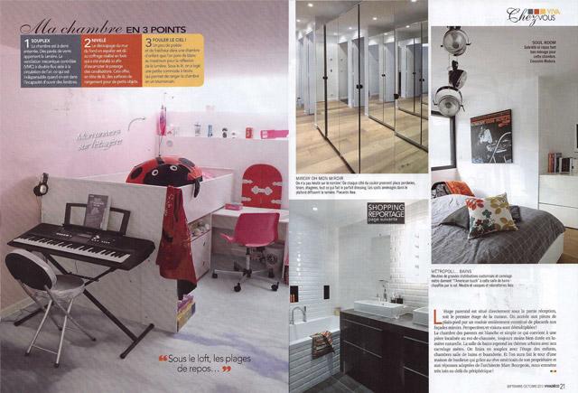 un article dans Viva Déco sur la maison So'House de style new yorkais Brroklin à Saint Ouen