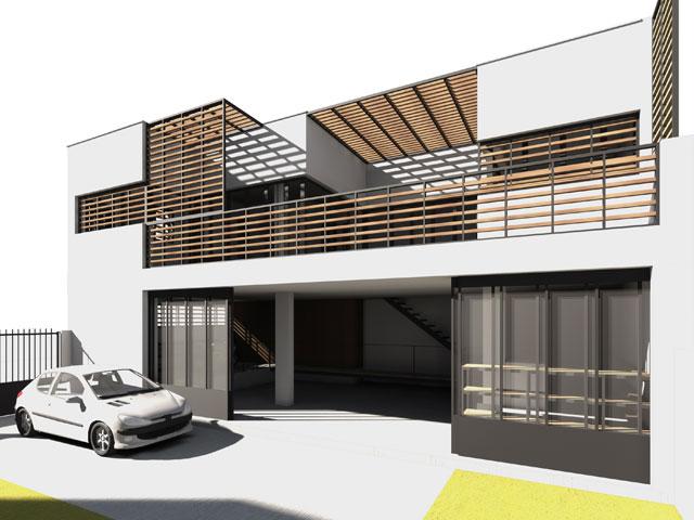 Sof architectes sof architectes - Construction maison style loft ...