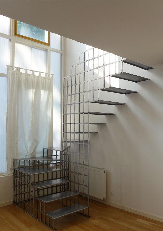 SOF Architectes Bagnolet escalier métallique